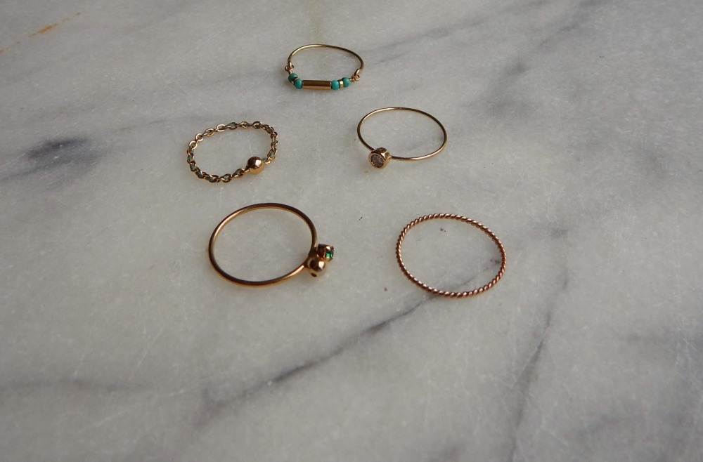 Rings I bought lately